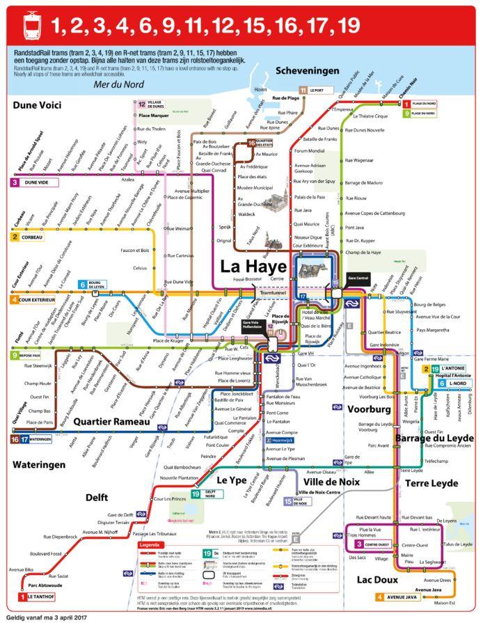 De verfranste metrokaart van Den Haag