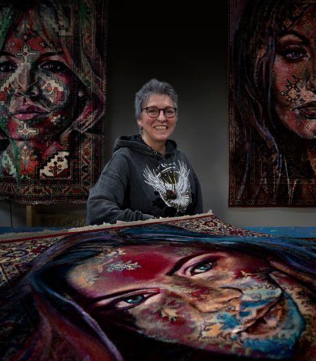 Anita Hoebergen tovert Perzische kleden om tot portretten