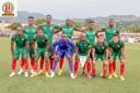 Mo Amissi, (onderste rij, tweede van links) met de nationale ploeg van Burundi.