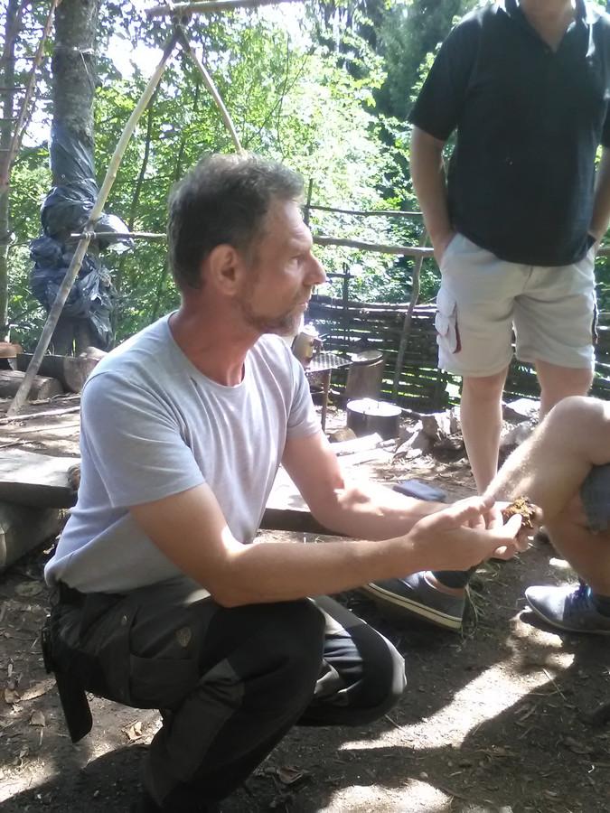 Sonnenaar Ad Versantvoort ontmoette Jos Brech (op de voorgrond) vorig jaar bij het berghutje van zijn broer in de Vogezen.