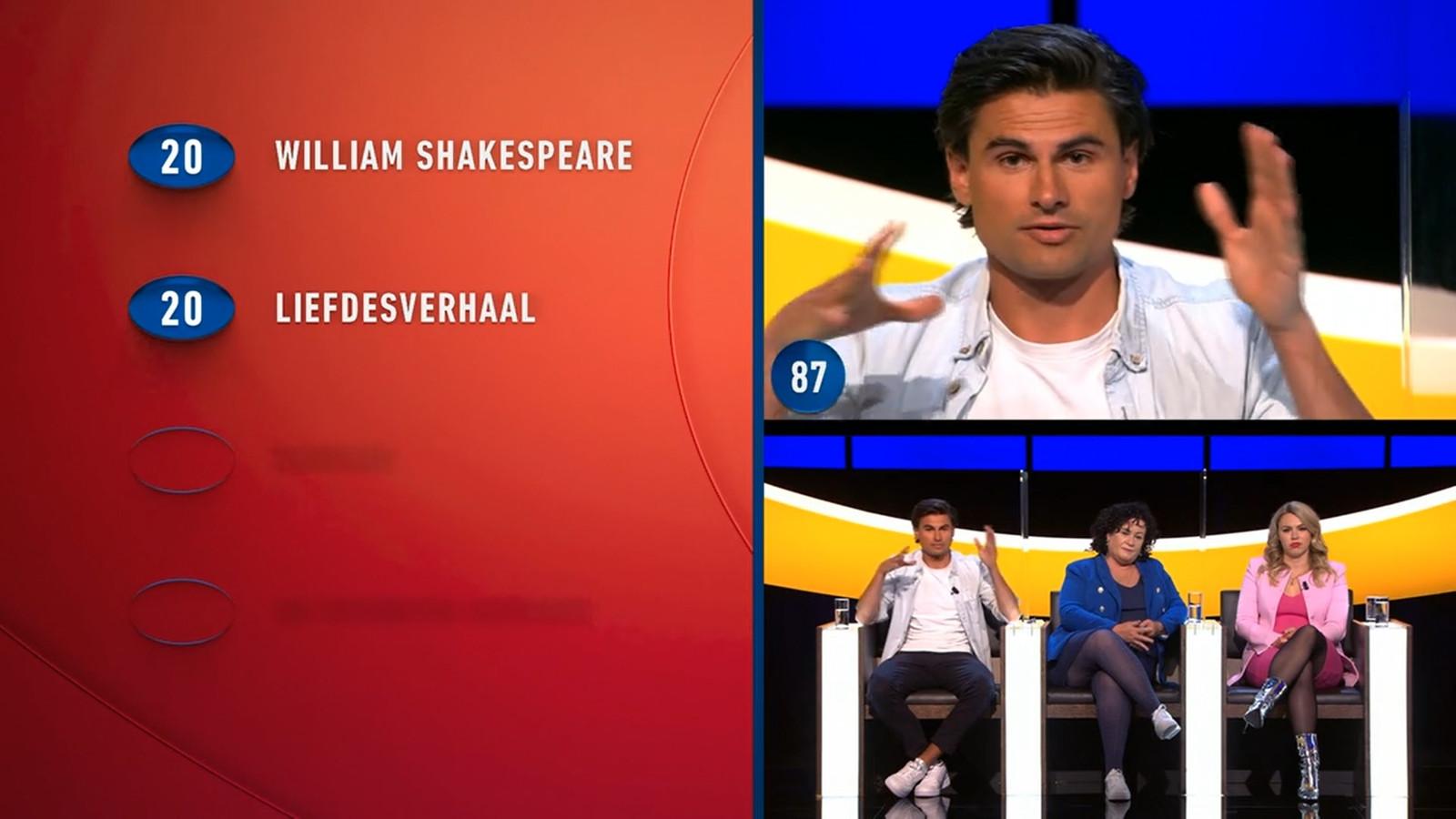Milan van Dongen worstelt met de vraag over Romeo en Julia.