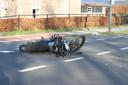 De motor raakte flink beschadigd.