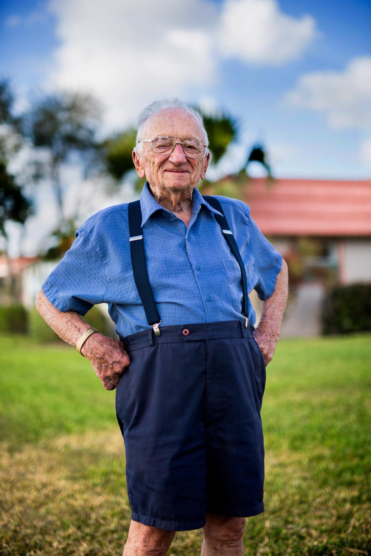 Ben Ferencz werkt nog altijd 365 dagen per jaar, 10 uur per dag, aan een rechtvaardige wereld. Beeld Getty Images