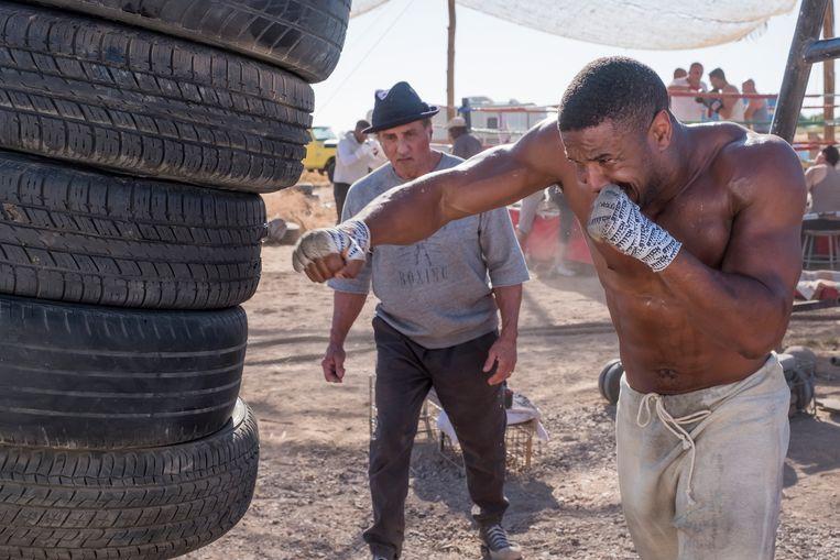 Michael B. Jordan als Adonis Creed in 'Creed II'. Er is meer nodig voor een goede film dan een sixpack. Beeld rv/Barry Wetcher