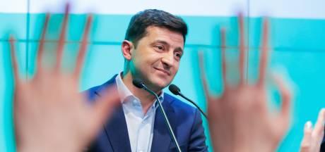 Ex-televisiekomiek beëdigd als president van Oekraïne
