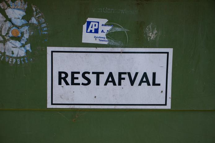 Een container voor restafval.