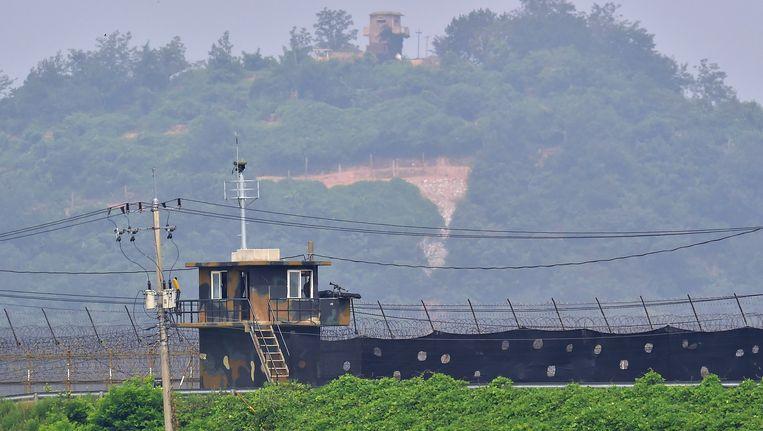 Noord-Korea gezien vanuit Zuid-Korea. Beeld afp