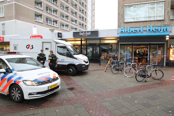 Overval op geldwagen bij Albert Heijn in De Stede.