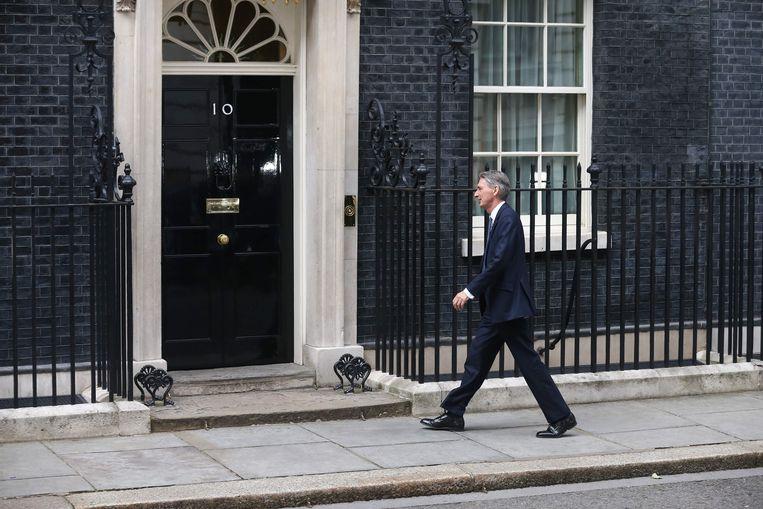Philip Hammond, de nieuwe Britse minister van Financiën. Beeld AFP