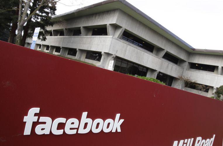Het Facebook-hoofdkantoor in Palo Alto, Californië. Beeld AP