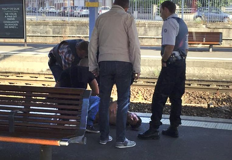 Ayoub El Khazzani werd op de trein overmeesterd en in verdenking gesteld voor pogingen tot moord met terroristisch oogmerk. Beeld REUTERS