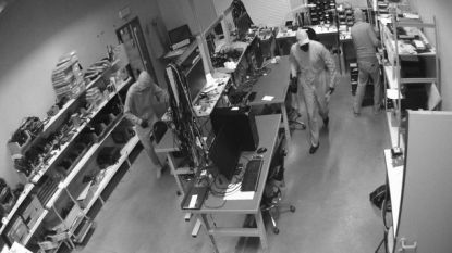 Dieven plunderen computerwinkel Comcon