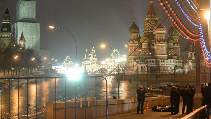 Het lichaam van Nemtsov