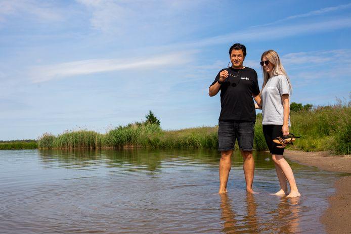 Michelle Koevoets (rechts) en Jesse Schmitz uit Rhenen.