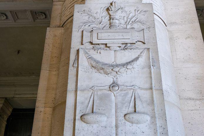Illustratie van het Justitiepaleis in Brussel.