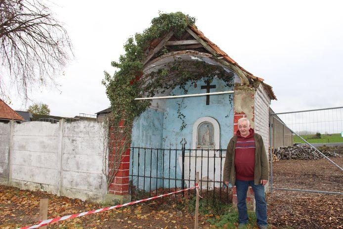 Rudy Van den Eeckhout wil dat de kapel in Maarke hersteld wordt.