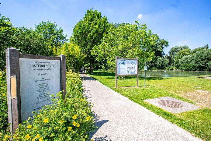 Het Lijsterbespark achter de OCMW-site in de Gasthuisstraat.