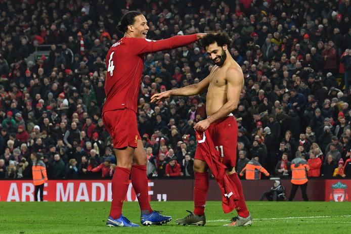 Virgil van Dijk en Mohamed Salah.