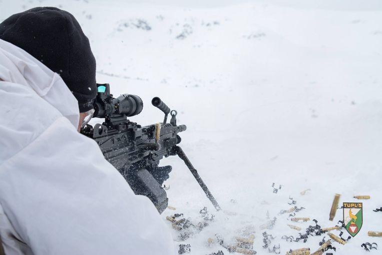 Foto ter illustratie: Belgisch leger op sneeuwmissie in de Alpen
