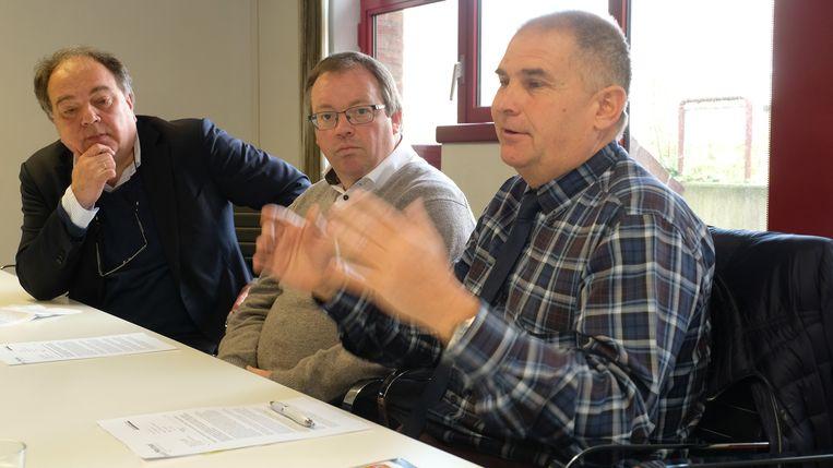 De burgemeesters van Mortsel, Boechout en Borsbeek stelden donderdagmiddag hun plan voor aan de pers.