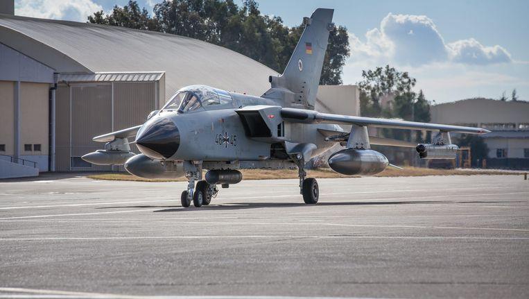 Ook de Duitse luchtmacht strijdt mee tegen Daesh/IS (foto 8 januari) Beeld EPA