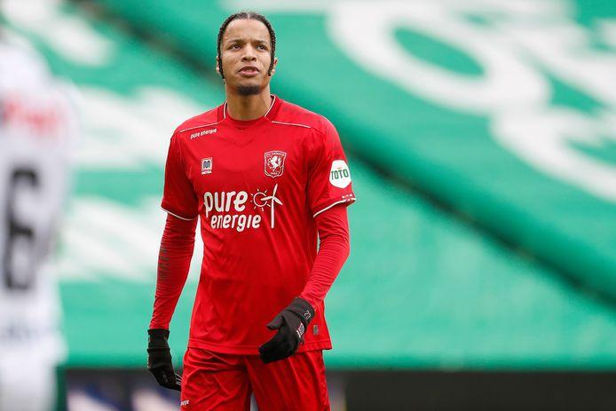Tyronne Ebuehi, afgelopen zondag in het duel tegen FC Groningen.