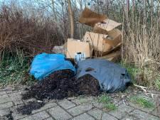 Dozen en zakken vol afval van hennepkwekerij gedumpt in Mijdrecht