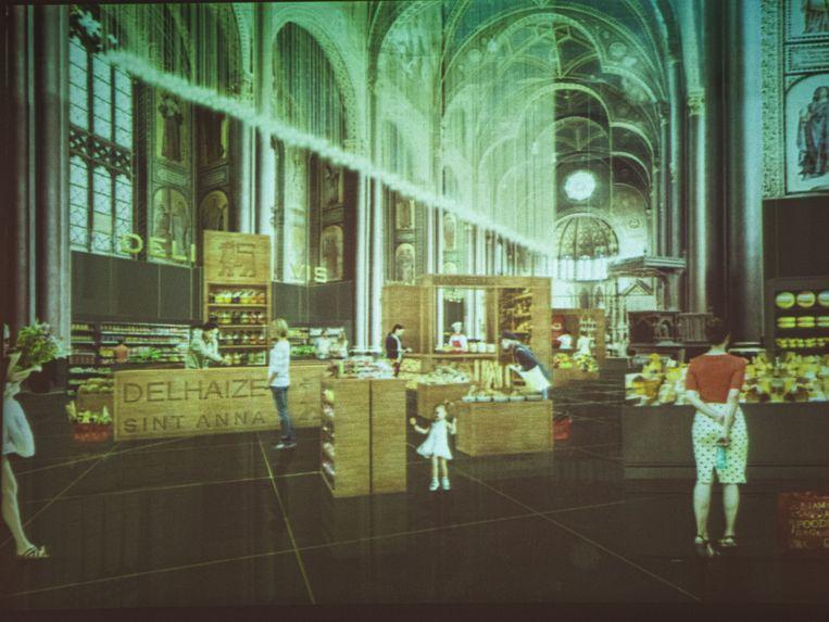 De Sint-Annakerk, zoals die er in de toekomst zou moeten uitzien. Beeld Wannes Nimmegeers