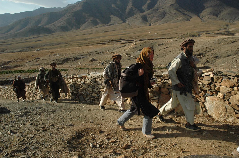 Joanie de Rijke in Afghanistan, vlak voor het misging.