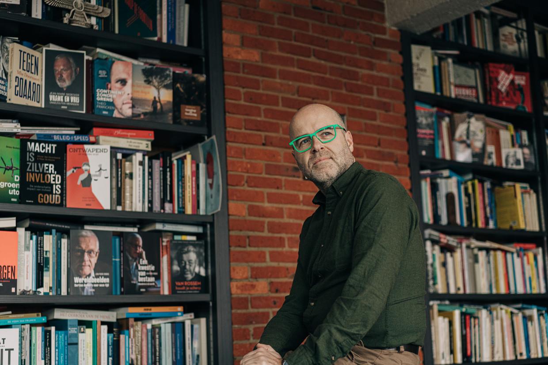 Uitgever Karl Drabbe. Beeld Wouter Van Vooren