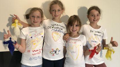 Kiwi's verkopen zelfgemaakte engeltjes voor Kinderkankerfonds