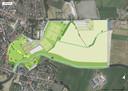 De plannen voor Omnipark de Brug in Erp, met één multifunctioneel gemeenschapshuis, en een naar het dorp toe gericht park waar de Aa doorheen stroomt.