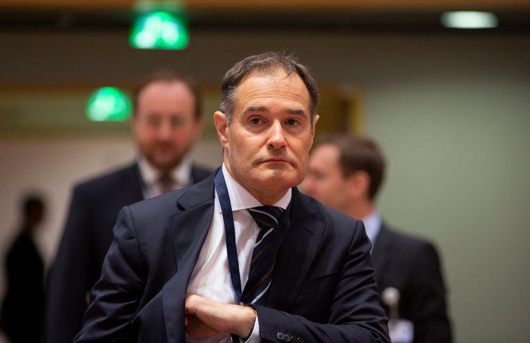 Frontex-directeur Fabrice Leggeri op een EU-ministersvergadering in Brussel, afgelopen december. Beeld AP