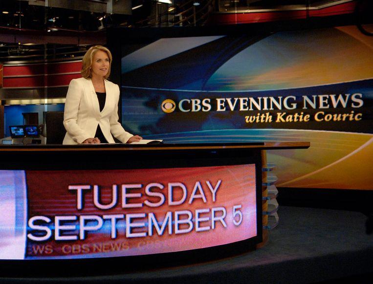 Katie Couric was de eerste vrouwelijke presentatrice van het 'CBS Evening News'