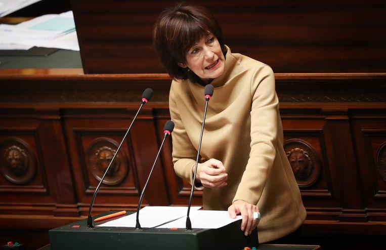 Laurette Onkelinx kon er niet van over dat de MR in 2014 een federale regering zonder de PS vormde. Beeld BELGA