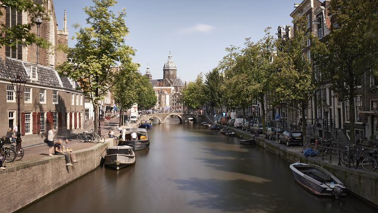 De Oudezijds Voorburgwal in Amsterdam. Beeld Anp