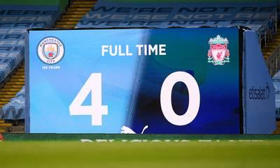 Manchester City salue le titre de Liverpool… avant de lui infliger une correction