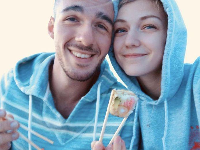 Brian Laundrie met zijn verloofde Gabrielle 'Gabby' Petito.