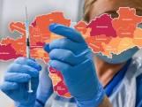 CORONAKAART   Besmettingen in regio stijgen door, druk op ziekenhuizen neemt verder toe