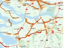 Chaotische avondspits: hier staat het allemaal vast in West-Brabant