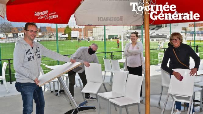 """Ook sportclubs pakken uit met terrassen in afwachting van heropening kantines: """"Voor het financiële, maar zeker ook voor het sociale aspect"""""""