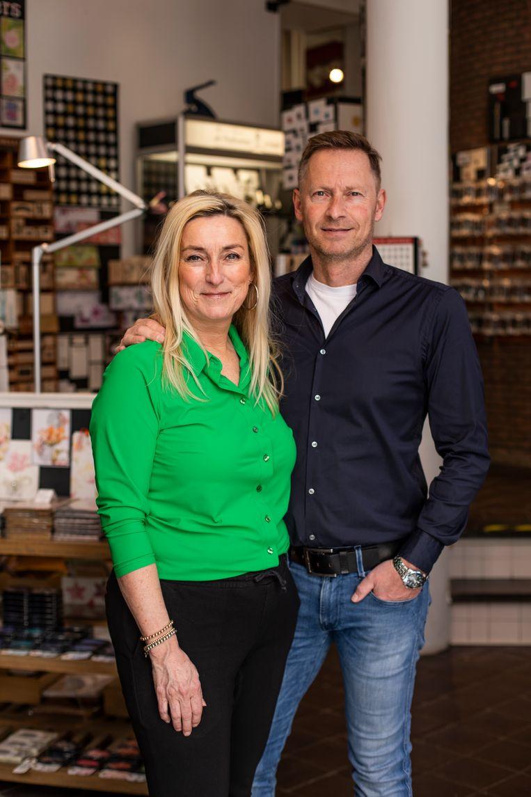 Peter and Nathalie at the Posthumuswinkel.  Beeld Lin Woldendorp
