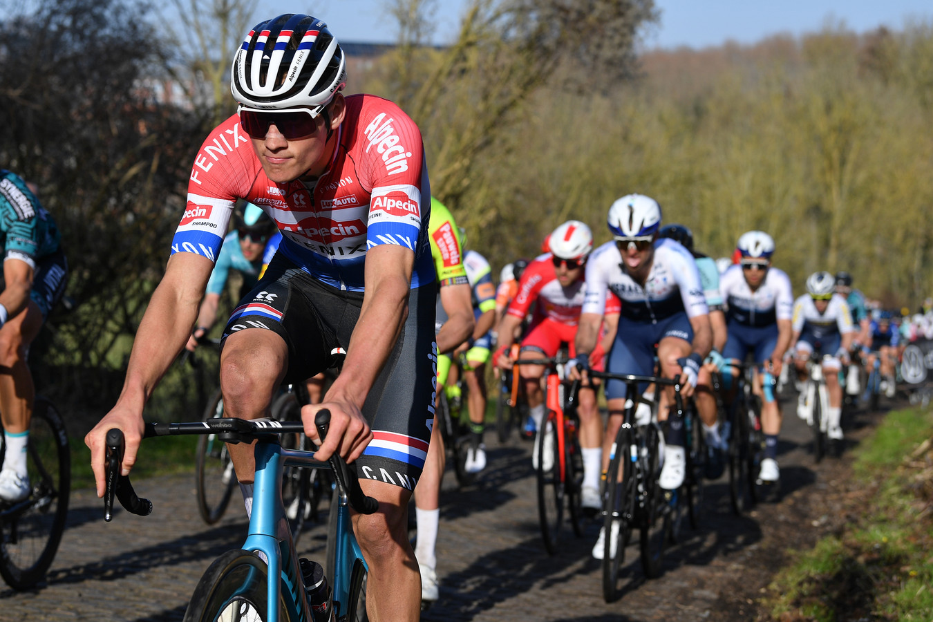 Mathieu van der Poel in actie.