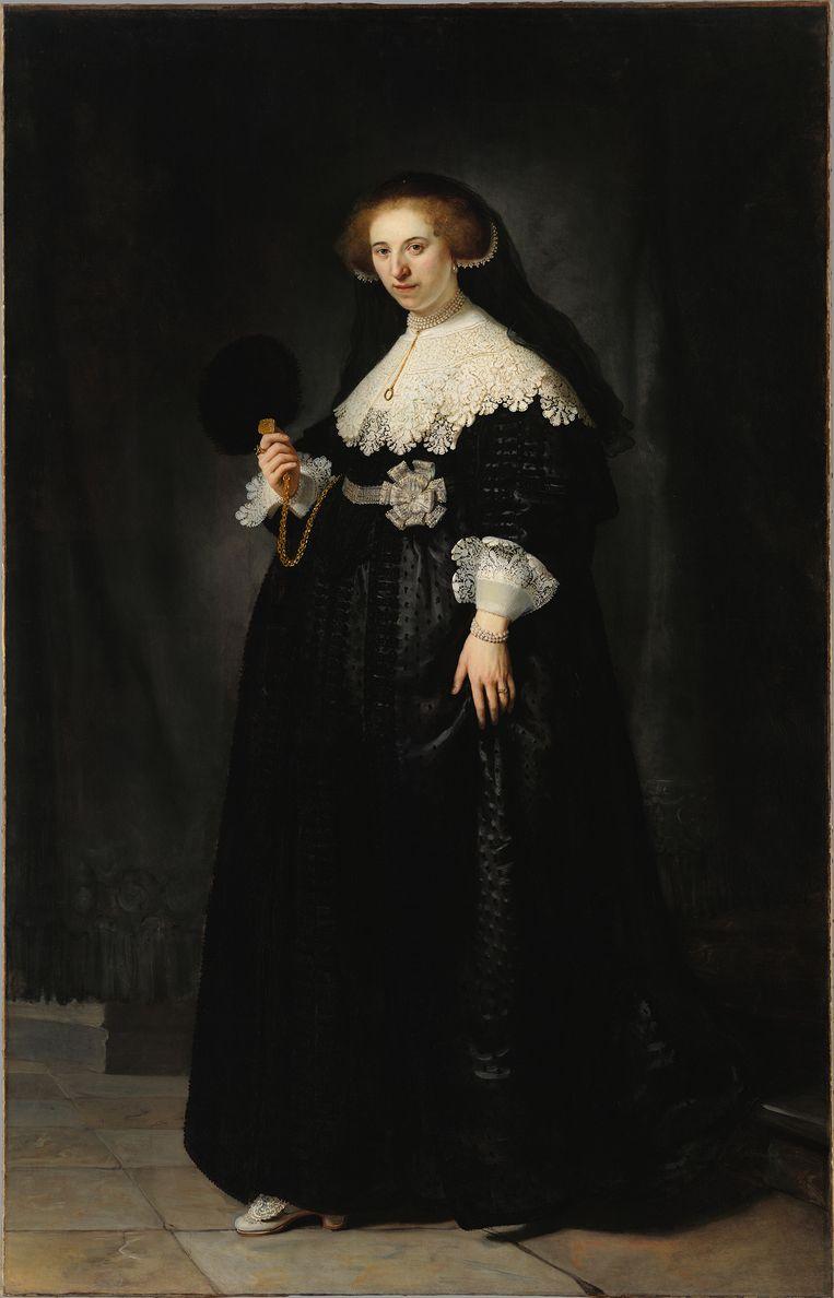 Rembrandt van Rijn, Portret van Oopjen Coppit, 1634 Beeld Rijksmuseum