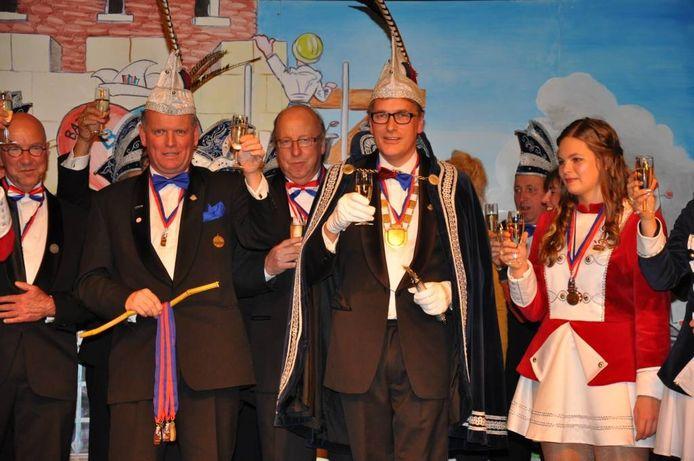 Ap van de Grap, prins van Batsers en Zet 'm Op bij zijn presentatie in november 2012.