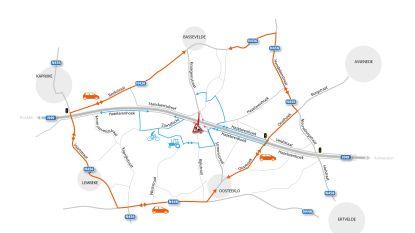 Kruispunt N49 met Stroomstraat in Oosteeklo vanaf maandag definitief dicht