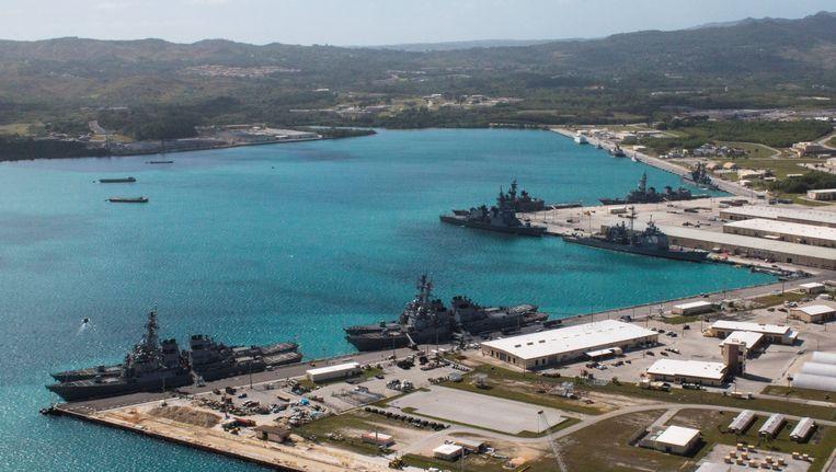 De militaire basis op Guam. Beeld reuters