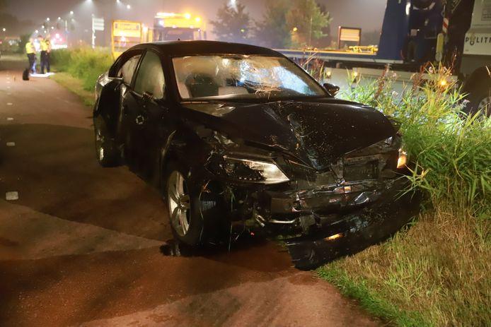 Ravage na ongeval op Prinses Beatrixlaan in Rijswijk.