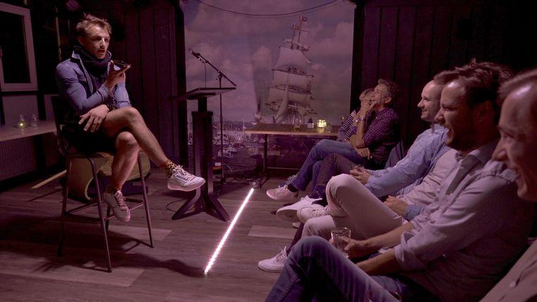 Komiek Wessel Meijering geeft 9 oktober een dinervoorstelling in het Amstel Boathouse. Beeld