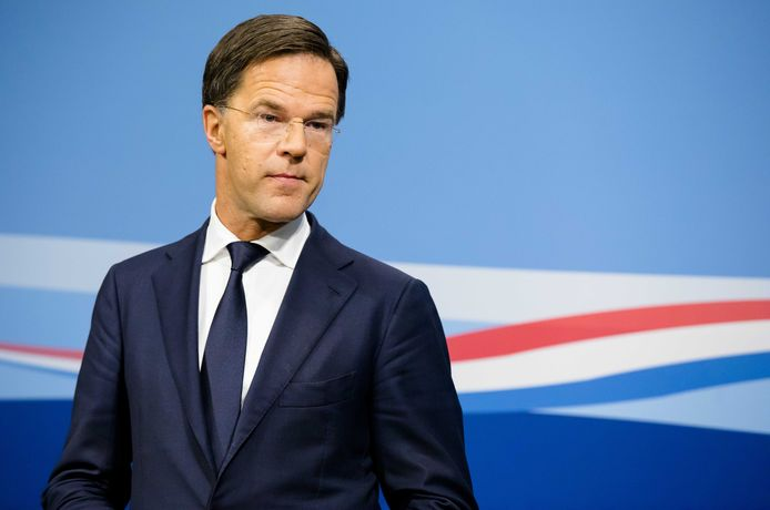 Premier Mark Rutte tijdens de eerste persconferentie na de ministerraad van 2019